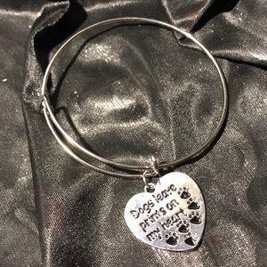 """3=$21 """"Dogs Leave Prints On My Heart ❤️ """" Bracelet"""